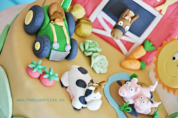Outstanding Farm Tractor And Animals Birthday Cake 3 6 Farm Cake For Flickr Funny Birthday Cards Online Benoljebrpdamsfinfo
