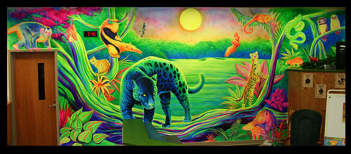 Flourescent Mural. Night in the Rainforest | by artisfire