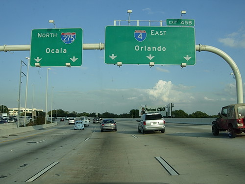 Eastbound Interstate 4 In Tampa Fl Heading Towards