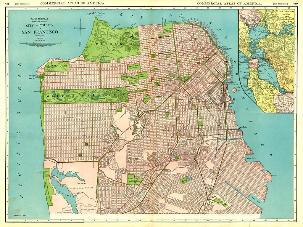 1925 San Francisco Street Map | Original Size (5332 x 3986, … | Flickr