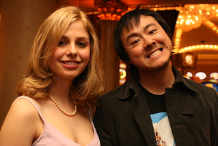 CES 2008 Sarah Meyers and Gizmodo's Brian Lam | by b_d_solis