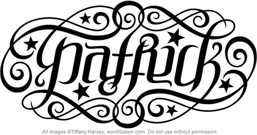 Quot Patrick Quot Ambigram V 1 A Custom Ambigram Of The Name Quot Patr Flickr