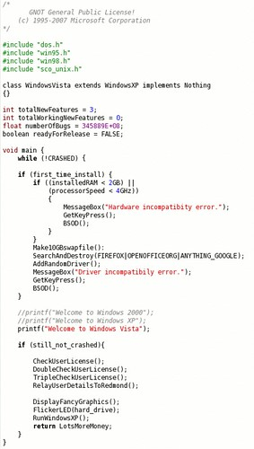 Windows Vista Source Code Revealed! | by SA_Steve