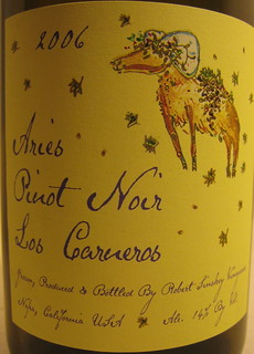 2006 Aries Robert Sinskey Pinot Noir (front) | by 2 Guys Uncorked