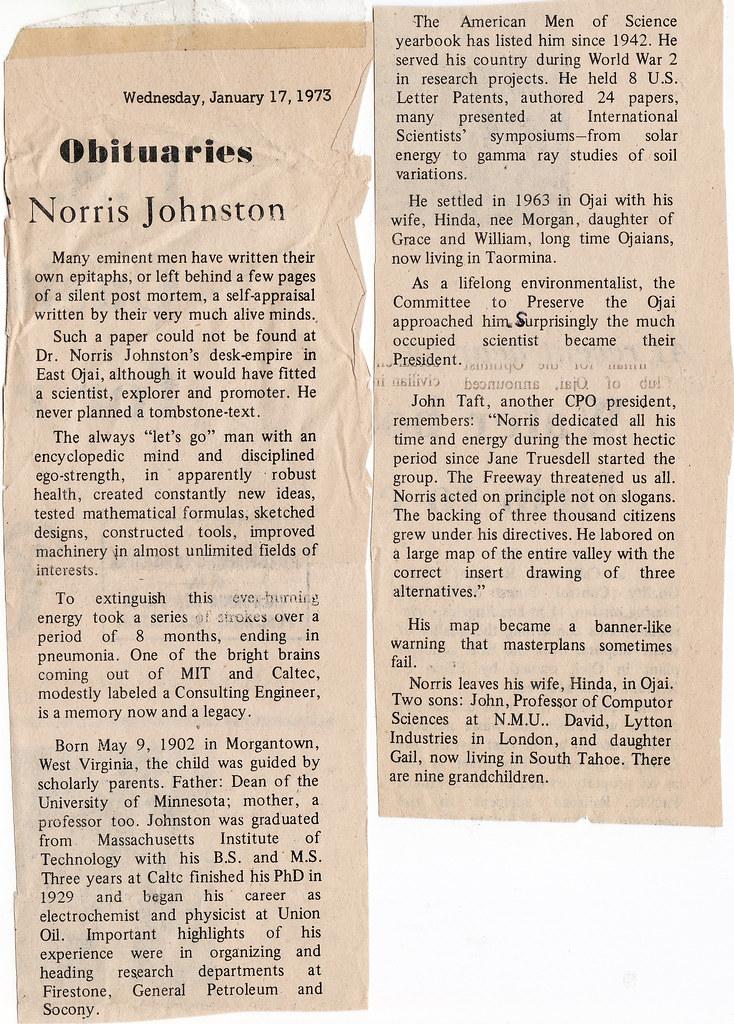 Grandpa Johnston Obituary - by glenngould Grandpa Johnston Obituary - by glenngould
