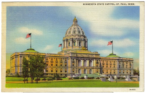 Postcard 1945 Minnesota State Capitol (front) | by kristinized