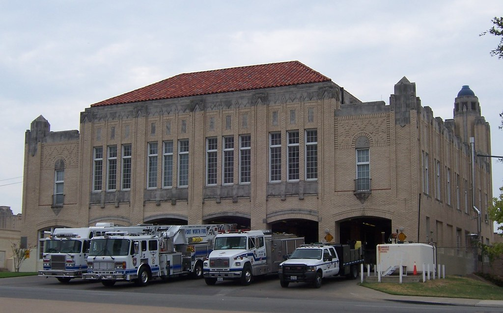Fort Worth Fire Dept Station 2 From Left To Right