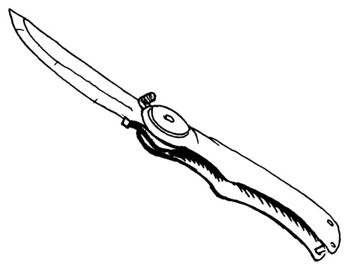 Pocket Knife Sketch I Did This Little Sketch And Inked
