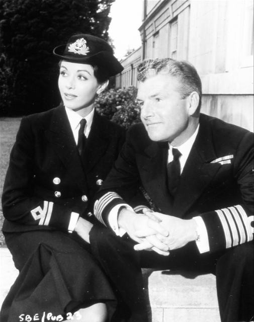 Sink the Bismarck! - Backstage - Dana Wynter and Kenneth More