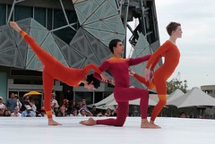 Merce Cunningham dancers at Fed Square | by David Stephensen