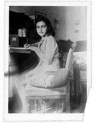 Anne Frank at her desk | by rosewithoutathorn84