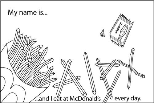 mcdonald's font  rendering of sketch in adobe illustrator