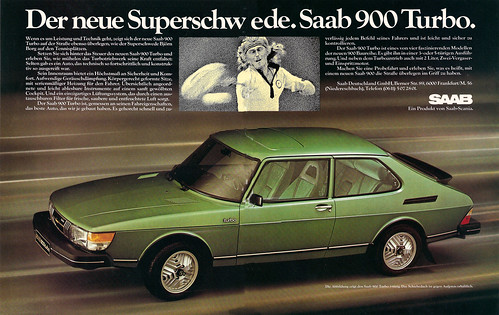 Reklame Saab 900 Turbo (1980) | by jens.lilienthal