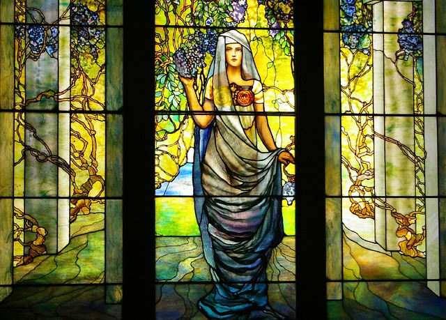 Tiffany Window Quot Portrait Of Woman In A Pergola With Wister Flickr