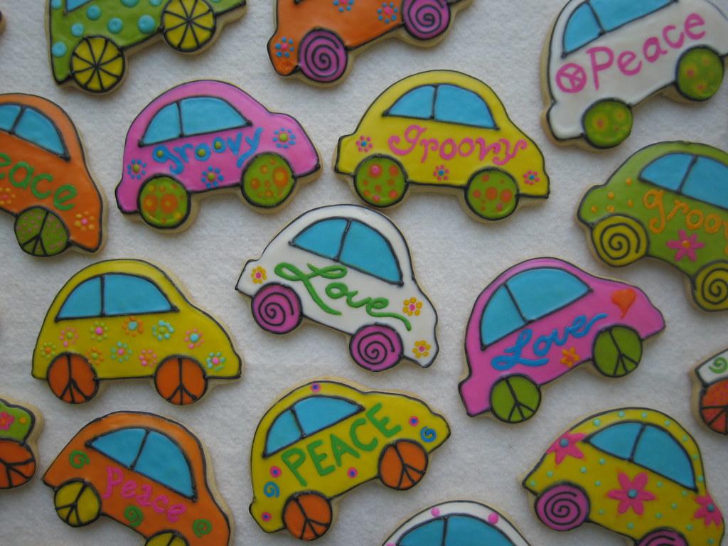 vw bug cookies   sugar cookies   decorated wi flickr