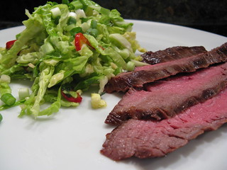 Grilled Asian Flank Steak with Sweet Slaw | by katbaro
