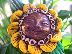 sunny flower spirit stick | by juliespace