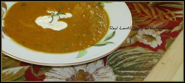 Red Lentil Soup with Yoghurt | The tangy yoghurt really ...