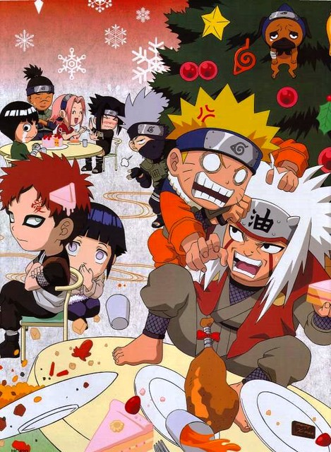 naruto christmas in konoha by anime27fan gone - Naruto Christmas