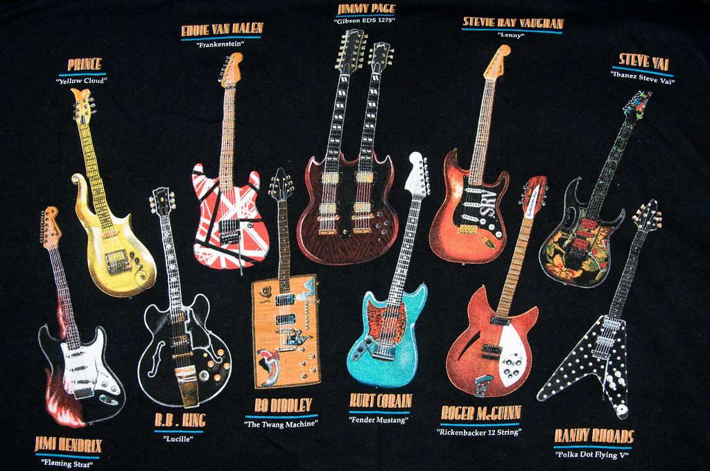 Famous Guitars An Old T Shirt I Have Artbrom Flickr