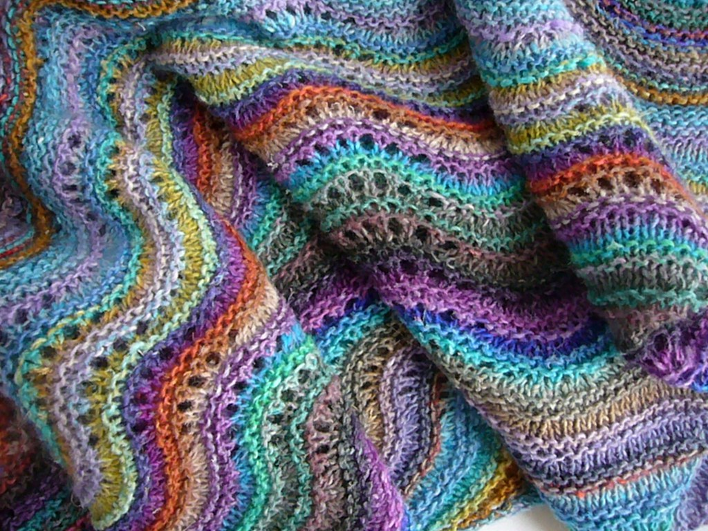Free Knitting Patterns Noro Yarn : Noro shawl Noro Silk Garden lite #2033, #2010, #2027, #201? Flickr