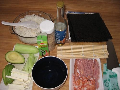 ingredientes para preparar sushi zerethv flickr