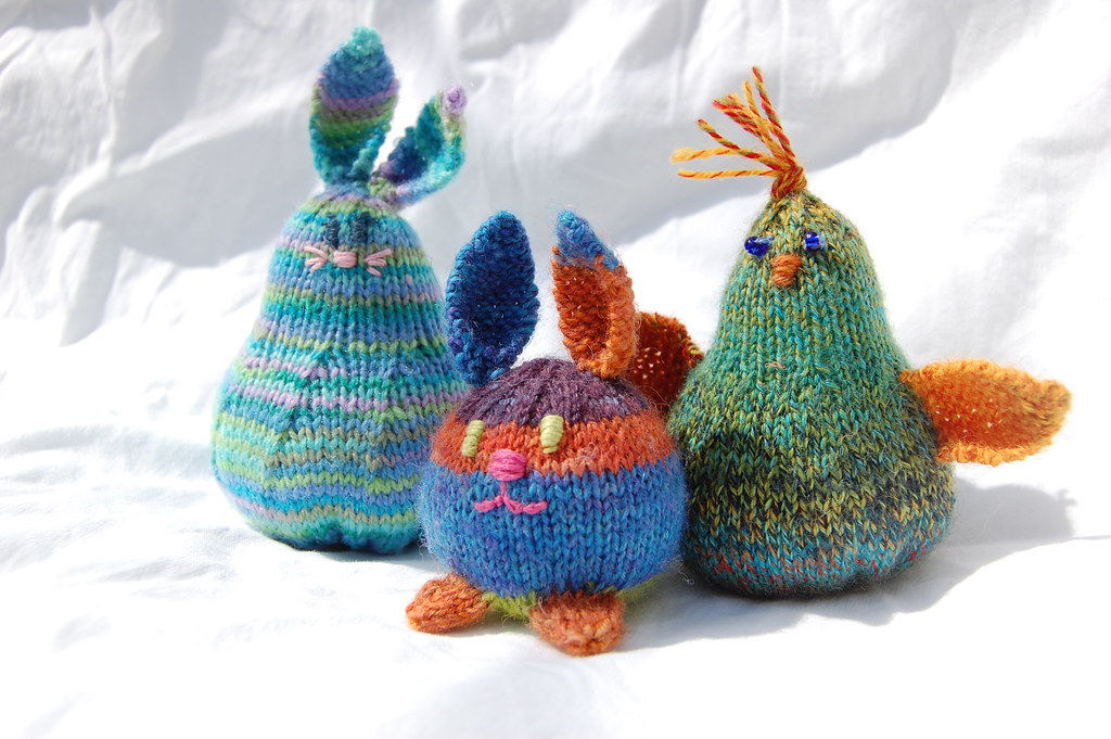 Free Knitting Patterns For Leftover Sock Yarn : Tiny Toys Knit from left over sock yarn, these toys are is? Flickr