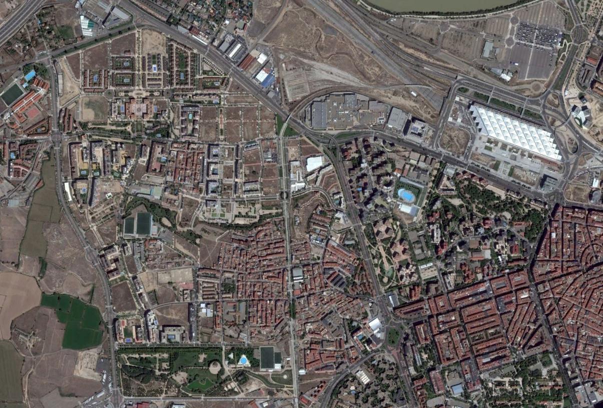 oliver-valdefierro, delicias, zaragoza, guiones para molar, después, urbanismo, planeamiento, urbano, desastre, urbanístico, construcción, rotondas, carretera