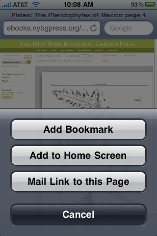 Tizra's page-at-a-time display makes it easy to bookmark or email links via iPhones or other web capable devices. | by tizrapix