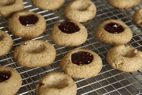 Raspberry Almond Thumbprint Cookies | by Pinch My Salt