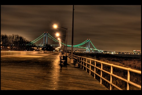 South Beach Boardwalk / Verrazano-Narrows Bridge | This