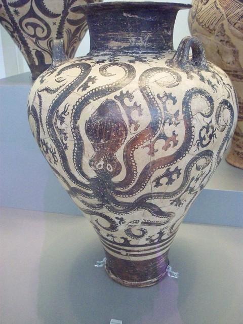 Octopus Vase Minoan The Minoans Loved Sea Themes Kaitlin Flickr