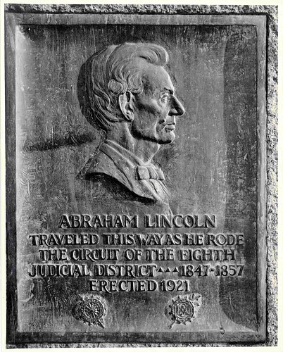 Abraham Lincoln Plaque, erected 1921 | by The Urbana Free Library Digital Collections