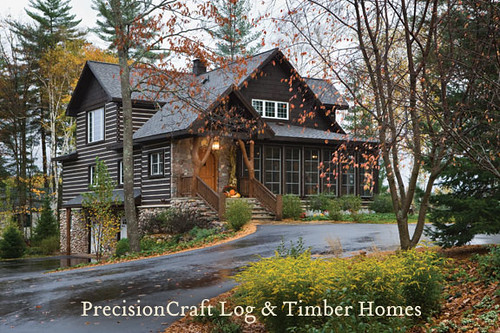 Exterior of a custom hybrid home wisconsin home precis for Custom a frame homes