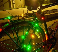 Bicycle Christmas lights -- drivetrain | by Richard Masoner / Cyclelicious