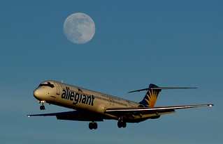 Allegiant Air McDonnell Douglas DC-9-83(MD-83) N866GA and Full Moon | by Photography of Bryan Correira