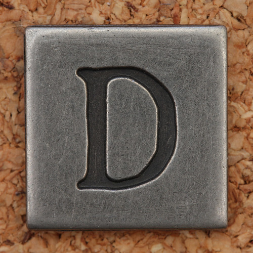 Pewter Uppercase Letter D | by Leo Reynolds