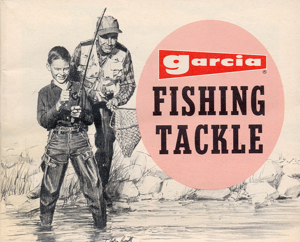 Catalog 1960s garcia fishing catalog front don the for Free fishing catalogs