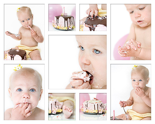 Keira collage w here is a collage of the cake smash pics flickr keira collage w by gabensysmom angela maxwellsz