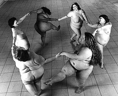 fat women dancing joyfully | by The Sugar Monster