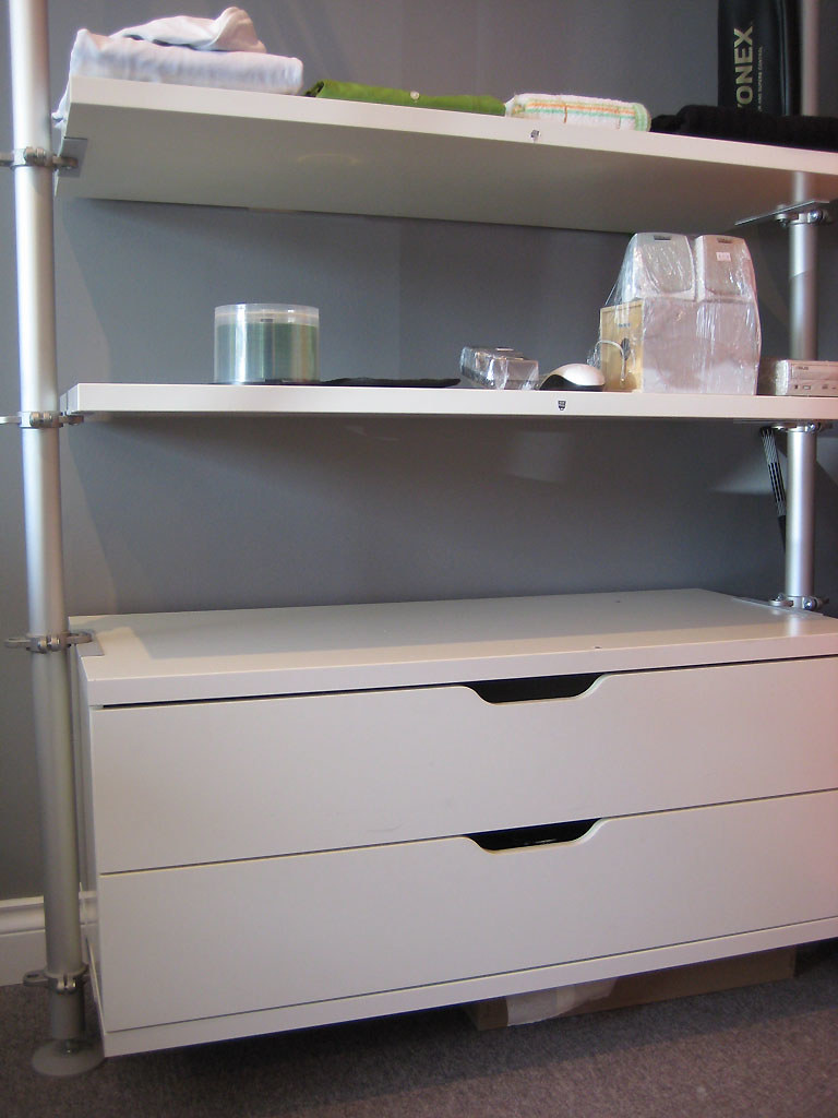 ikea stolmen shelf x2 rail x1 drawers set x1 post x2. Black Bedroom Furniture Sets. Home Design Ideas
