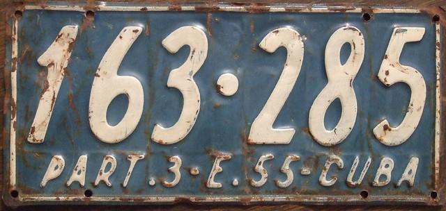 License Plate Camera >> CUBA, JAN-JUN 1955 passenger | 1955 Cuban license plate from… | Flickr