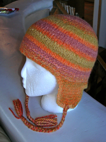 Thorpe Earflap Hat with my Handspun | by Claudia Brooke