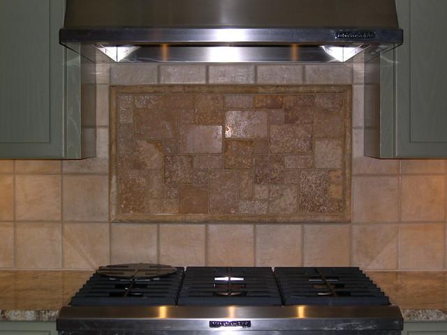 decorative travertine backsplash porcelain tile