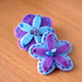Violet flower hair clips