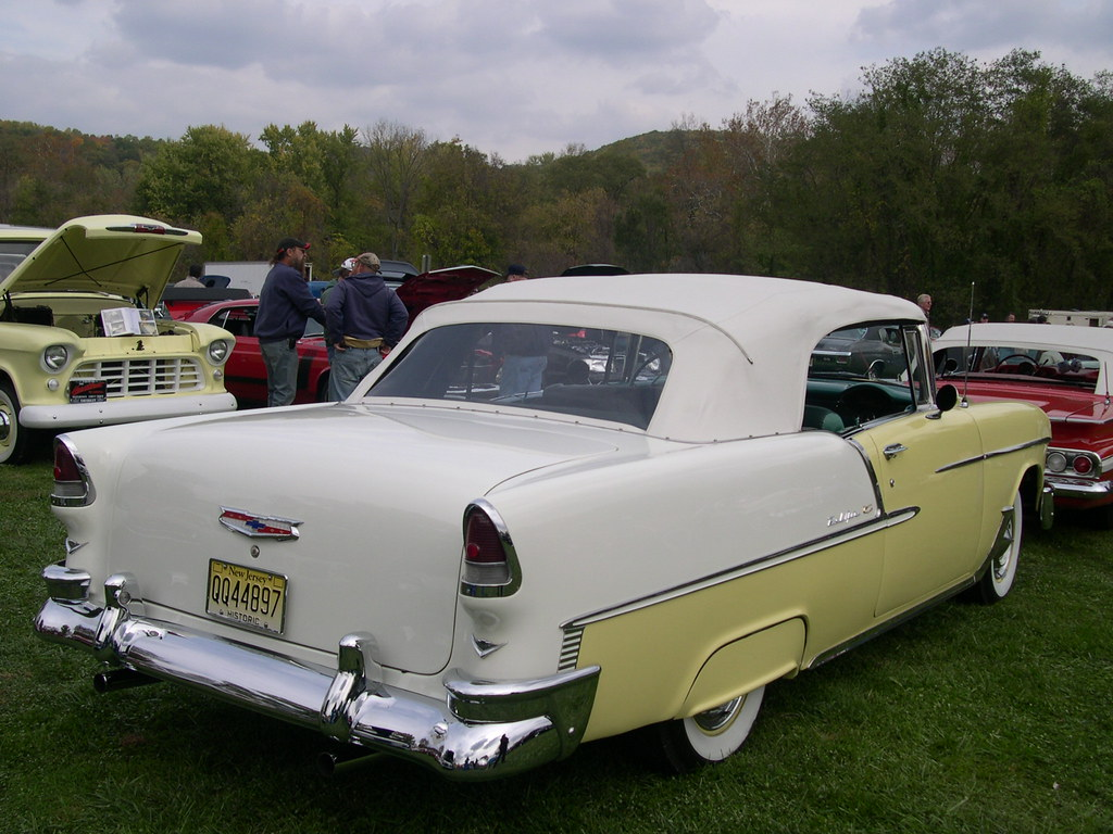 55 Chevy Bel Air 2 Tone Lots Of Nice Chrome On This
