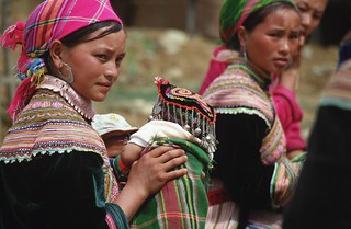 Flower Hmong women, Bac Ha market, Vietnam | by World Bank Photo Collection
