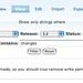 Localization server 5.0 alpha2 - new filtering UI