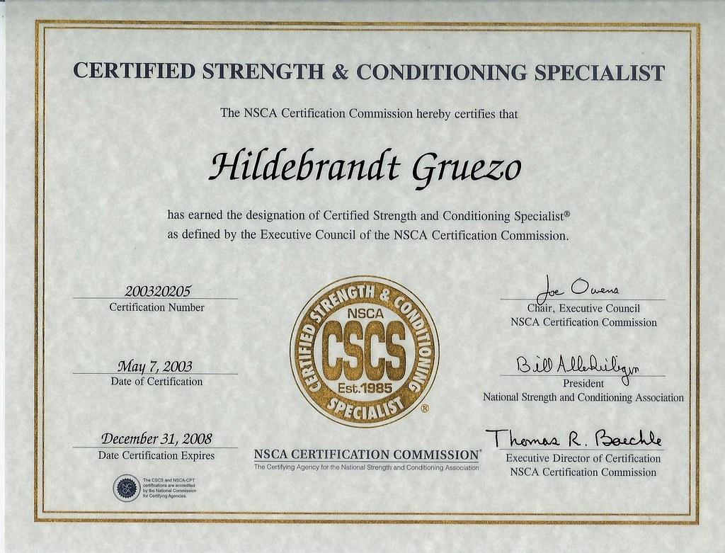 Randy Gruezo Nsca Cscs Certificate Since May 03 Ive Been Flickr