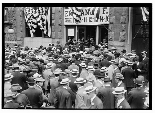 Crowd being turned back at Coliseum  (LOC) | by The Library of Congress